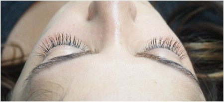 Beautiful lashes for a beautiful client
