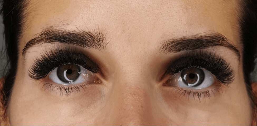 Women with beautiful eyelash extensions