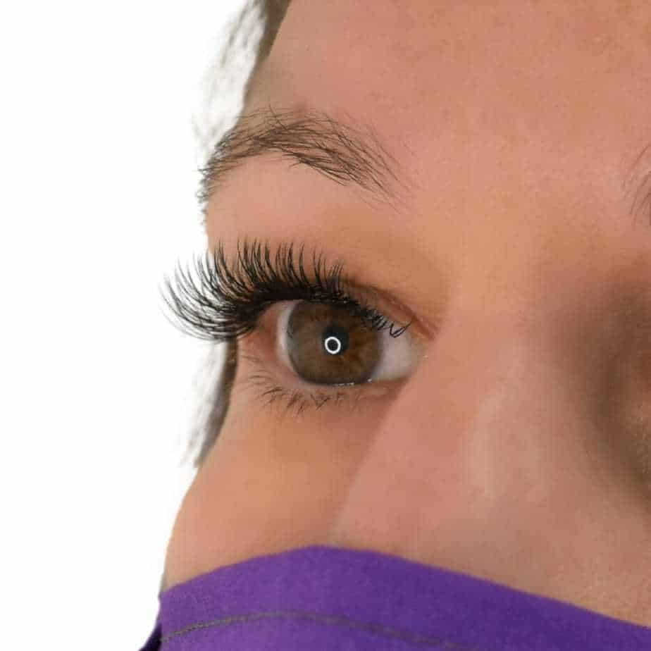 Woman with glamour classic eyelash extension