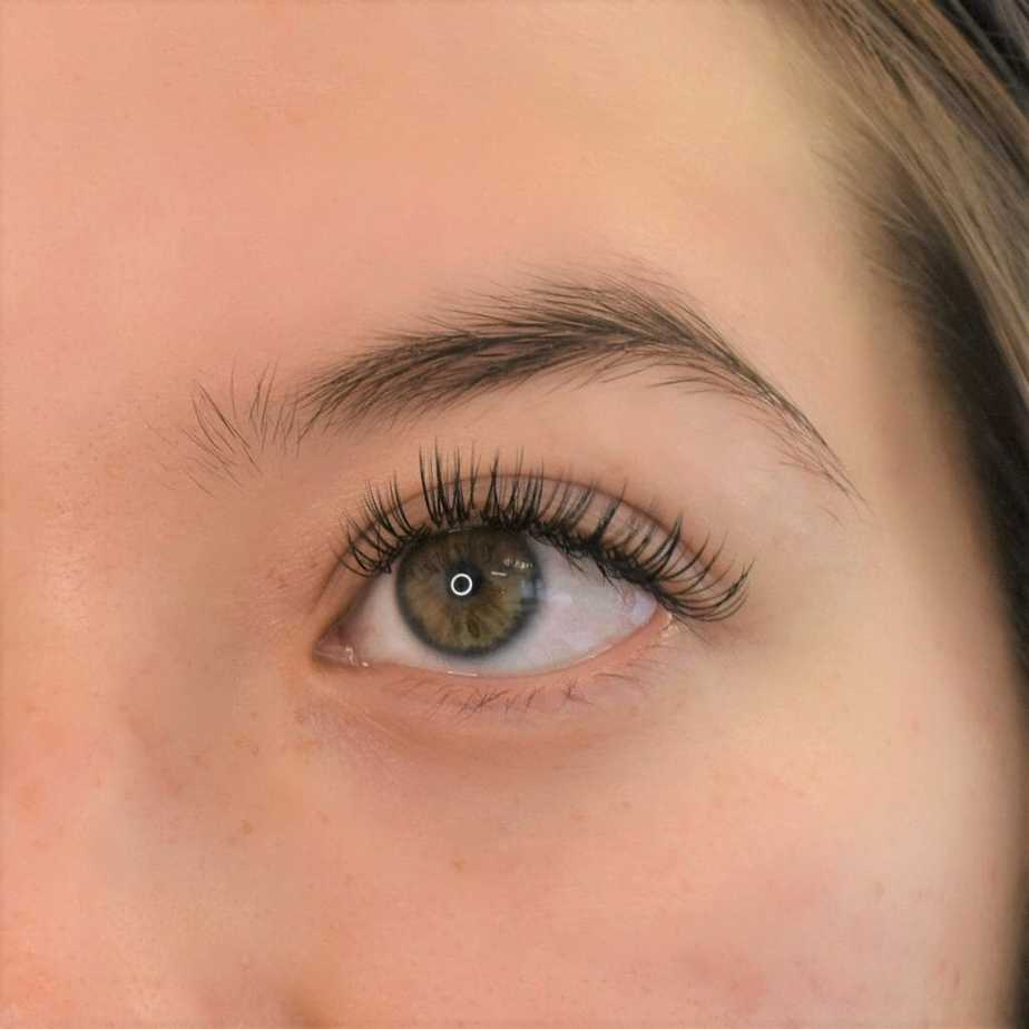 Woman with classic eyelash extension