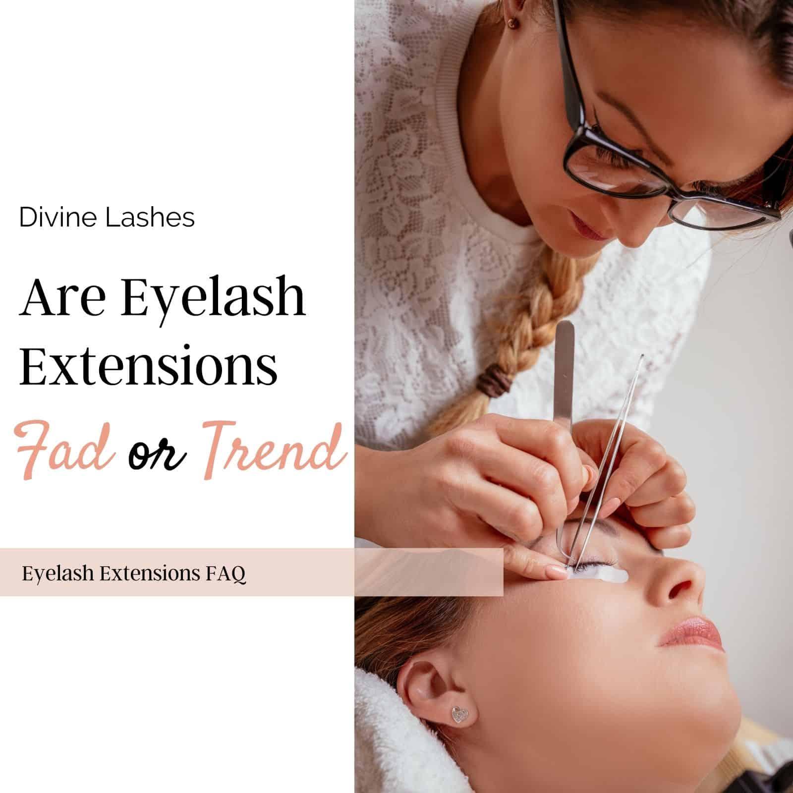 Lash stylist applying eyelash extensions