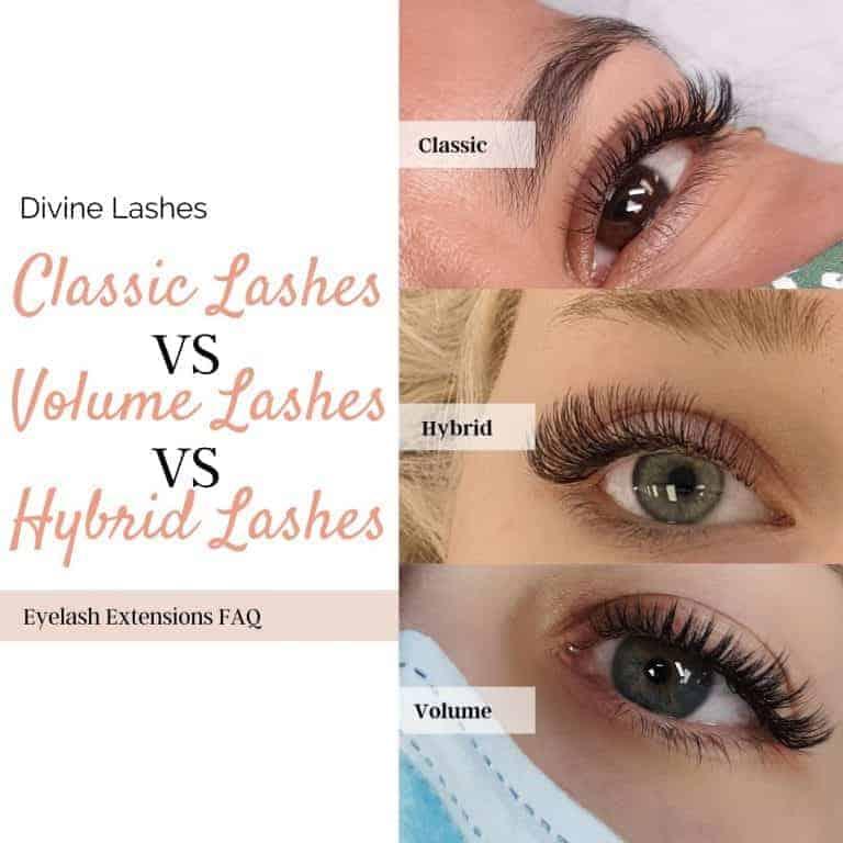 Classic vs Volume vs Hybrid lashes Compared [Ultimate Guide]