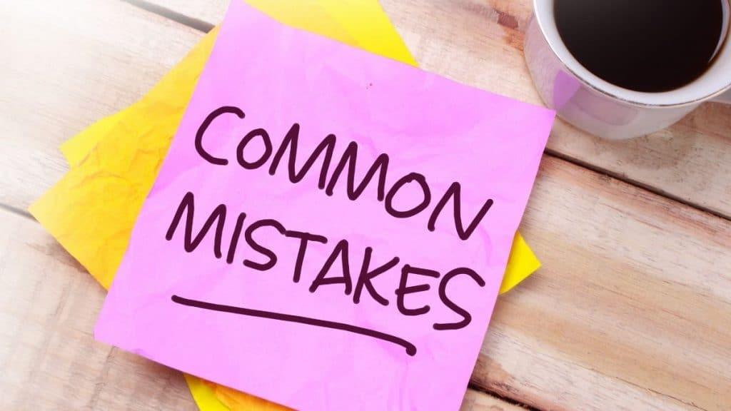 Common mistakes sticker