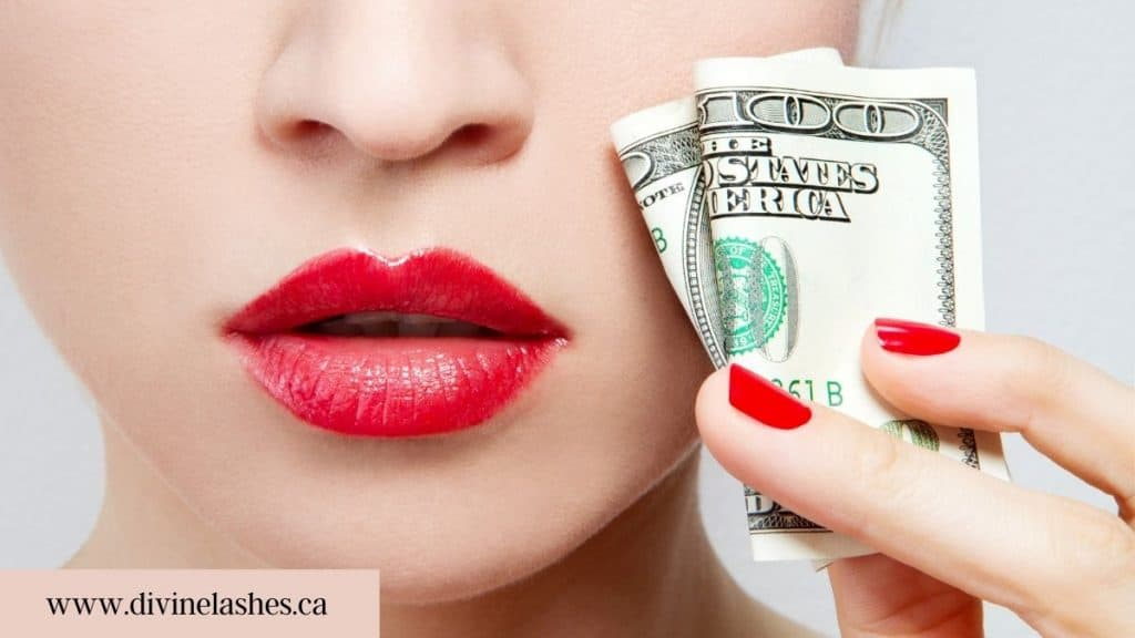Cons of eyelash extensions: cost of getting lashes