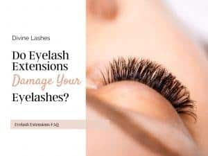 Do eyelash extensions damage eyelashes? Close up of healthy lashes with extensions