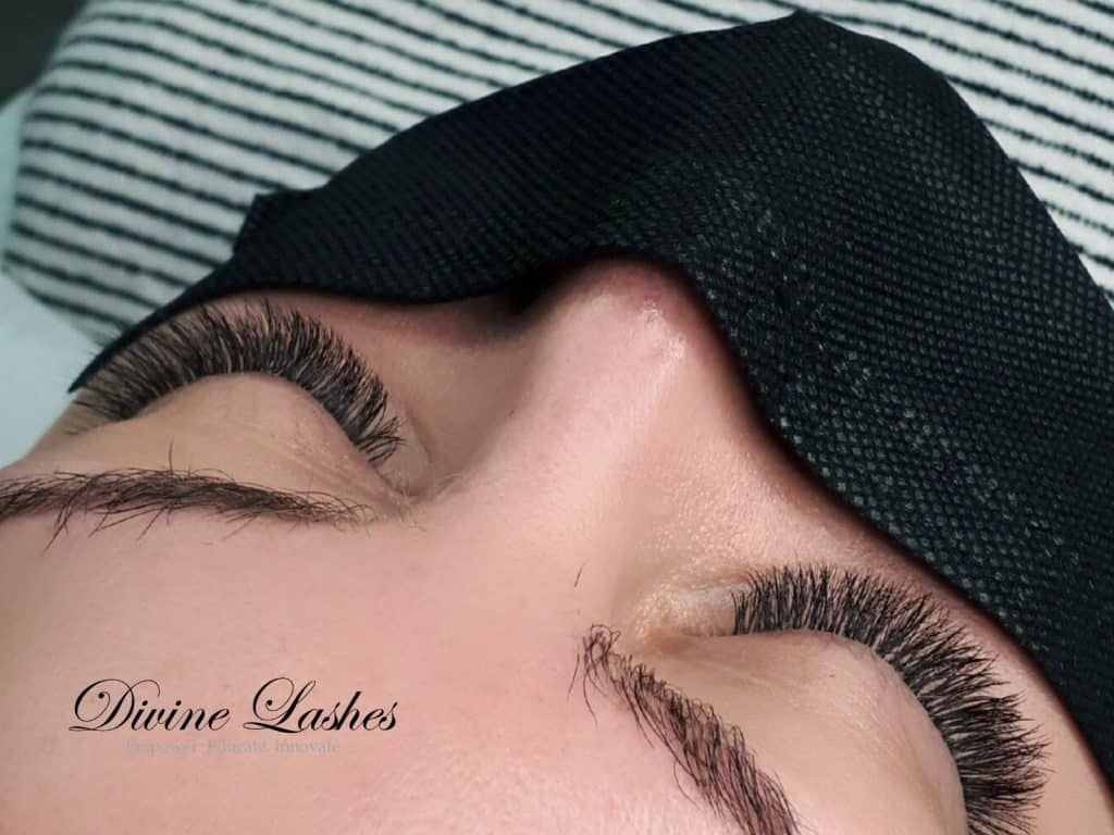 Eyelash extension set done by Divine Lashes