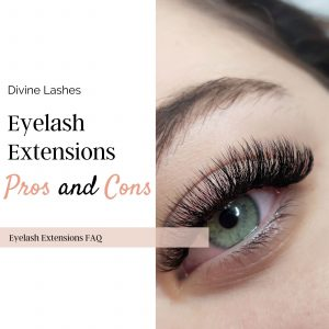 Eyelash extensions pros and cons: woman wearing lash extensions