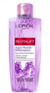 Bottle of L'oreal micellar water
