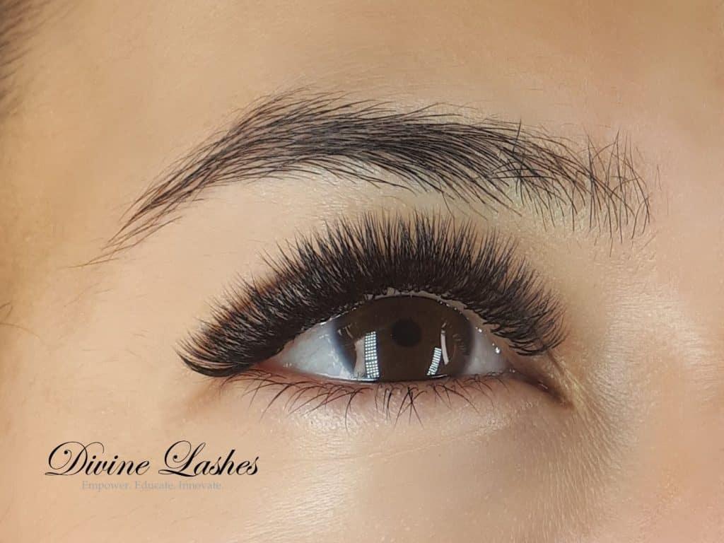 Eyelash extension on top lashes