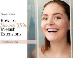 shower with eyelash extension