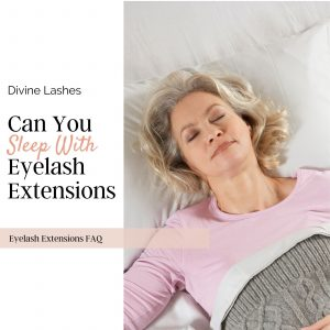 Woman sleeping with eyelash extensions