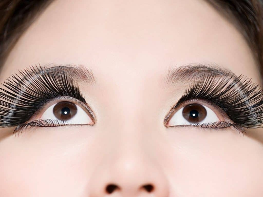 Woman with unnatural falsies