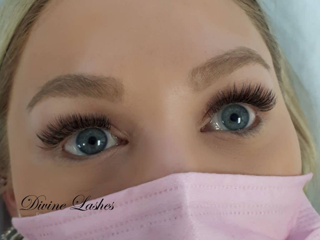 How old do you have to be to get eyelash extensions? Young woman with eyelash extensions by Divine Lashes
